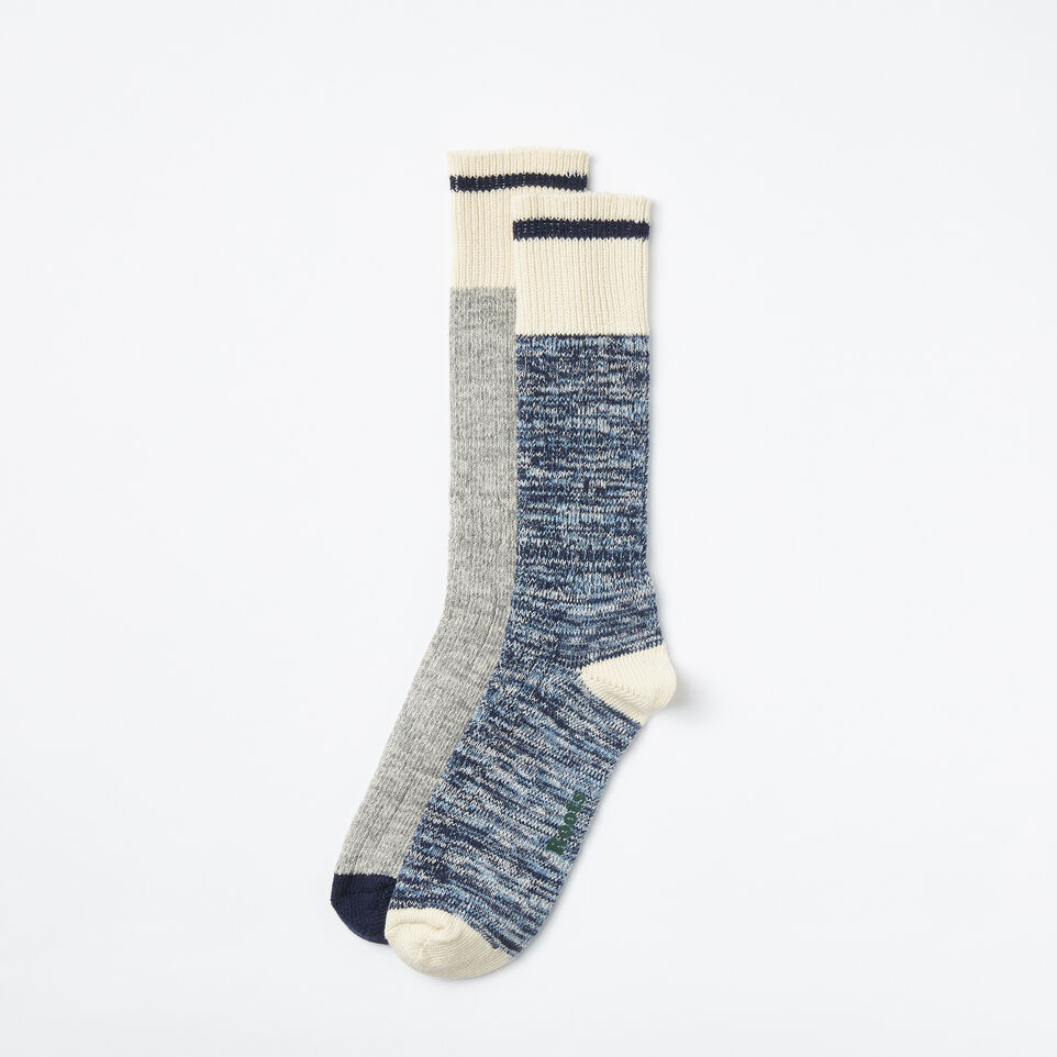 Roots-undefined-Mens Cotton Cabin Sock 2 Pack-undefined-A