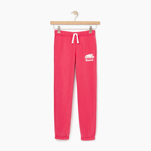 Roots-Clearance Kids-Girls Original Roots Sweatpant-Pink Flambé-A