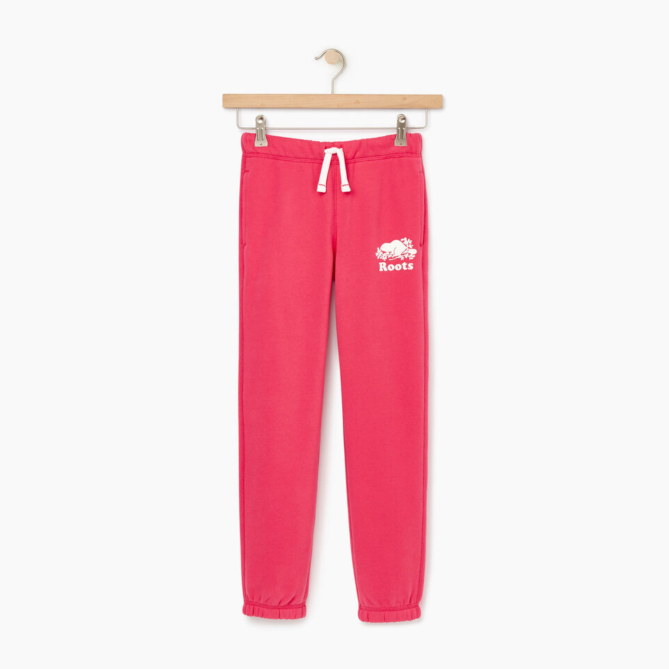 Roots-Kids New Arrivals-Girls Original Roots Sweatpant-Pink Flambé-A