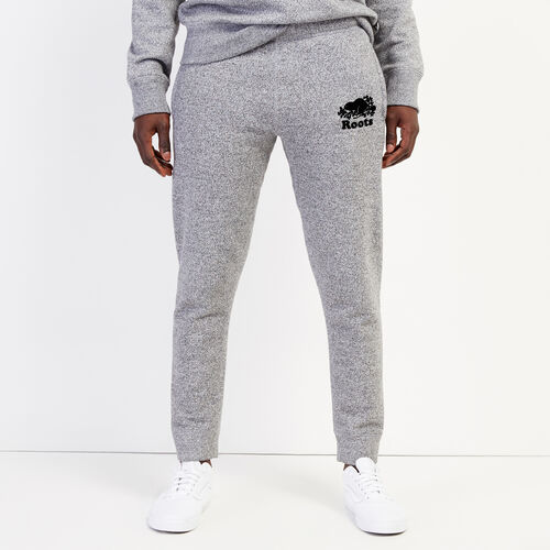Roots-Men Bottoms-Park Slim Sweatpant-Salt & Pepper-A