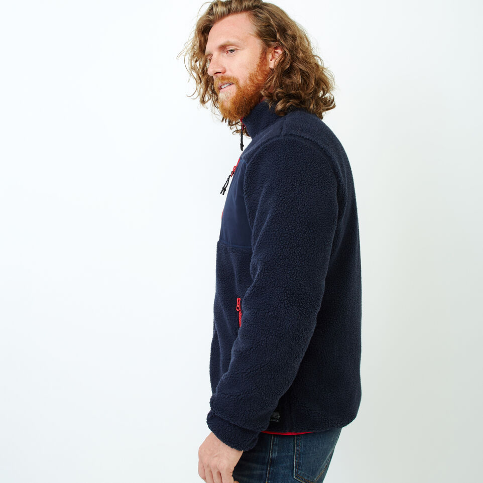 Roots-Men Our Favourite New Arrivals-Whistler Full Zip Mock Sweatshirt-Navy Blazer-C