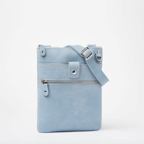 Roots-Women Roots Original Flat Bags-Small Venetian Tribe-Faded Denim-A