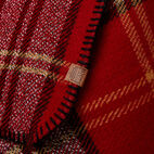 Roots-Women Scarves & Wraps-Smoke Lake Plaid Blanket Scarf-Red-D
