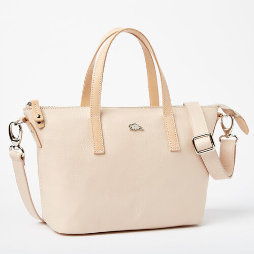 Roots-Leather Handbags-Small Zoe Bag Prince-Blush-A