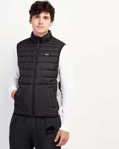 Roots-Men Jackets & Outerwear-Journey Hybrid Vest-Black-A