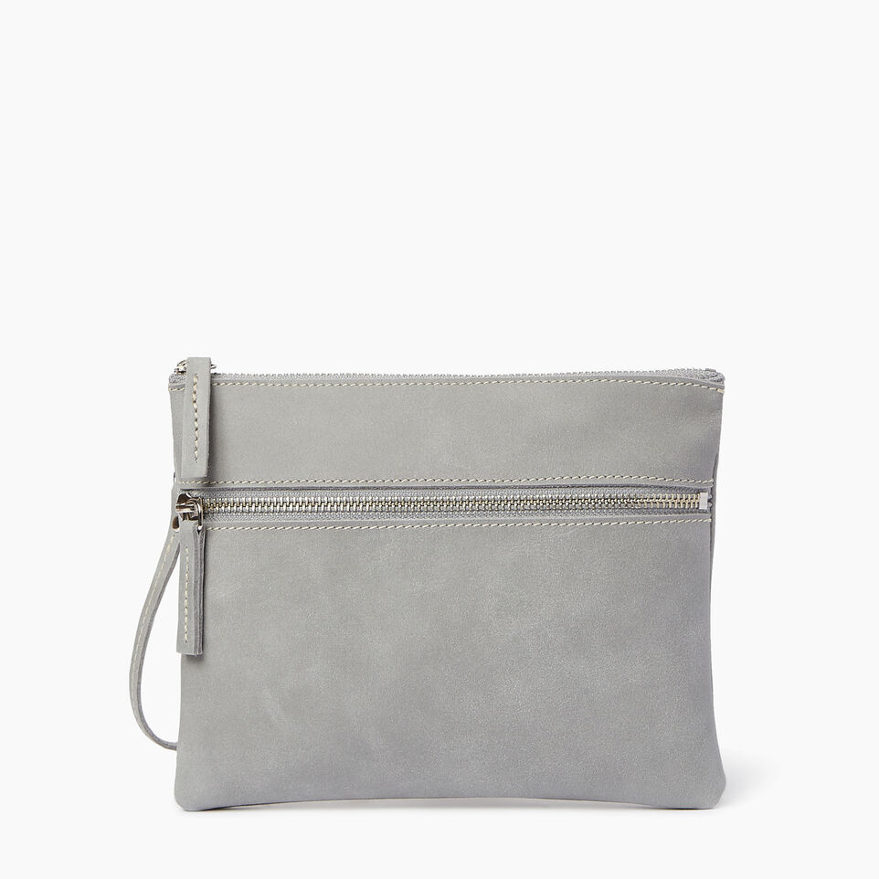 Roots-Leather  Handcrafted By Us Our Favourite New Arrivals-Double Zip Wristlet-Quartz-A
