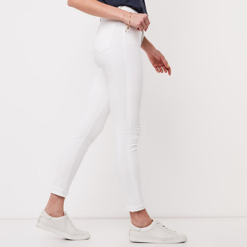 Roots-Sale Bottoms-Stretch Riley Coloured Denim-White-A
