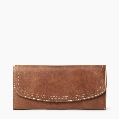 Roots-Women Wallets-Canmore Wallet Tribe-Natural-A