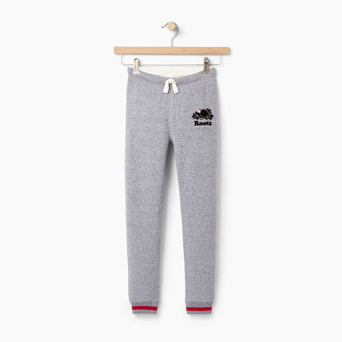 Roots-Kids Our Favourite New Arrivals-Girls Buddy Cozy Fleece Sweatpant-Salt & Pepper-A