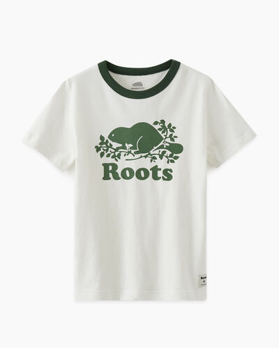 Roots-Kids T-shirts-Kids Cooper Pop T-shirt-Camp Green-A