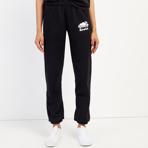 Roots-Women Sweatpants-Original Cozy Sweatpant-Black-A