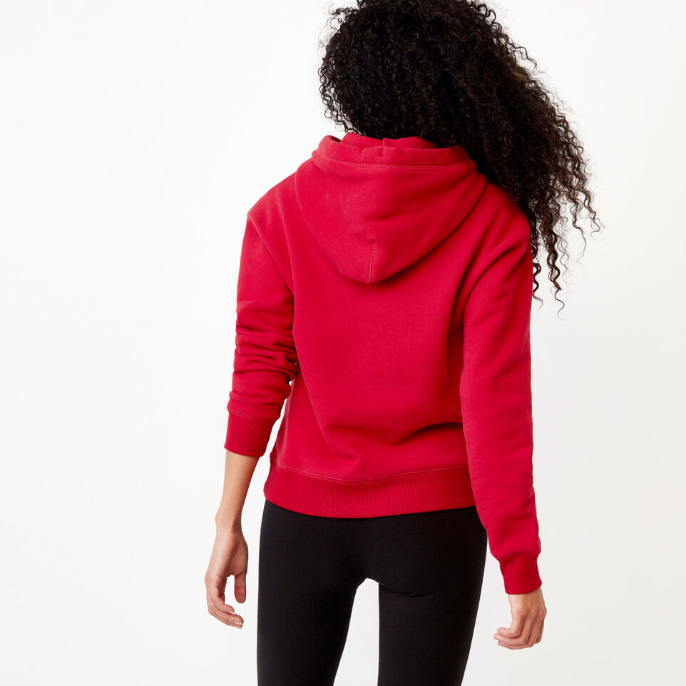 Roots-Clearance Women-Mabou Hoody-Cabin Red-D