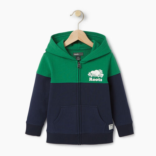 Roots-Clearance Kids-Toddler Colour Block Cooper Hoody-Navy Blazer-A