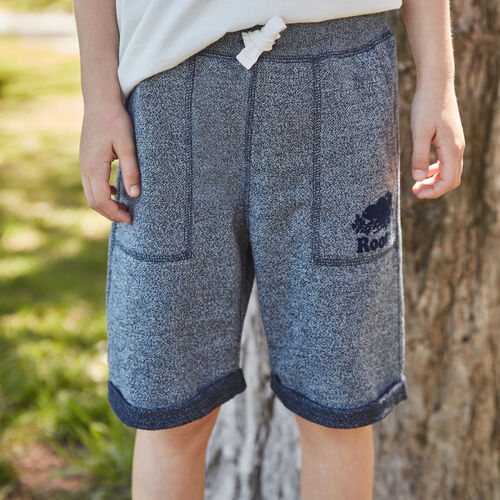 Roots-Kids New Arrivals-Boys Park Short-Navy Blazer Pepper-A