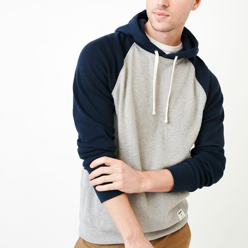 Roots-Men Categories-Waffle Hoody-Grey Mix-A