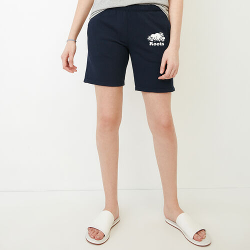 Roots-Women Our Favourite New Arrivals-Original Longer Sweatshort-Navy Blazer-A