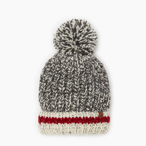 Roots-Gifts Accessory Sets-Chunky Cabin Pom Pom Toque-Grey Oat Mix-A