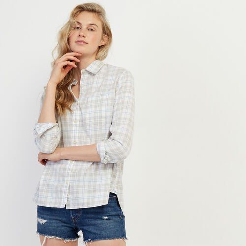 Roots-Women Categories-Trent Plaid Shirt-Grey Mix-A
