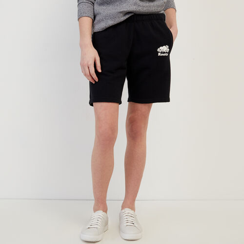 Roots-Women Shorts & Skirts-Original Longer Sweatshort-Black-A
