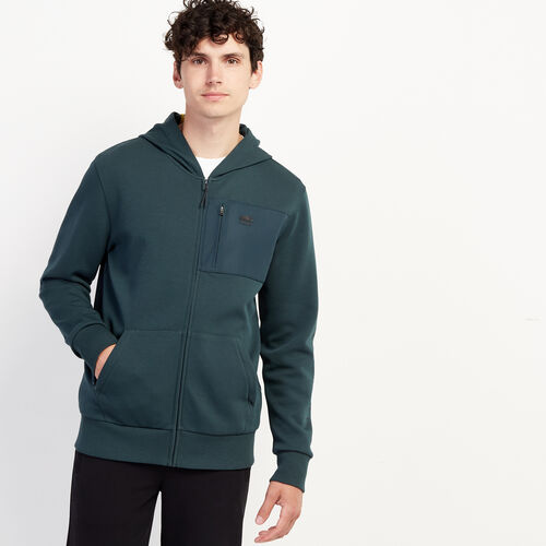 Roots-New For November Journey Collection-Journey Full Zip Hoody-Green Gables-A