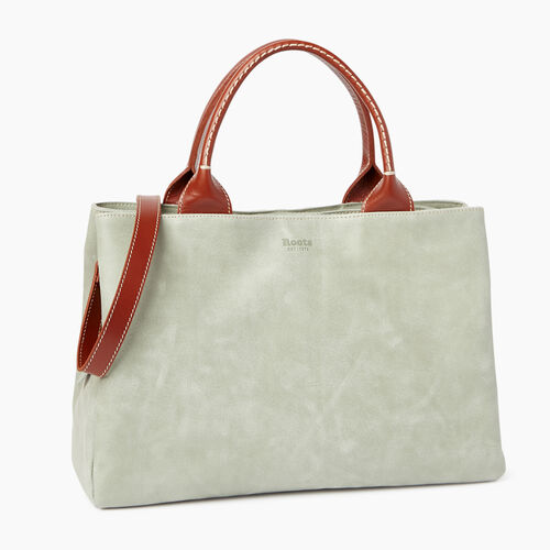 Roots-Leather  Handcrafted By Us Collections-Mont Royal Bag-Lichen/oak-A