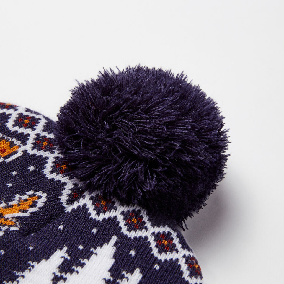 Roots-undefined-Winter Deer Pom Pom Toque-undefined-E
