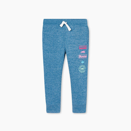 Roots-Kids Toddler Girls-Toddler Stacked Slim Cuff Sweatpant-Moroccan Blue Pepper-A