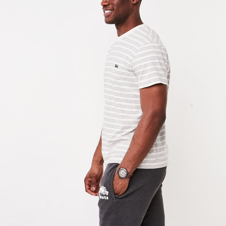 Roots-undefined-Mens Cooper Stripe T-shirt-undefined-B