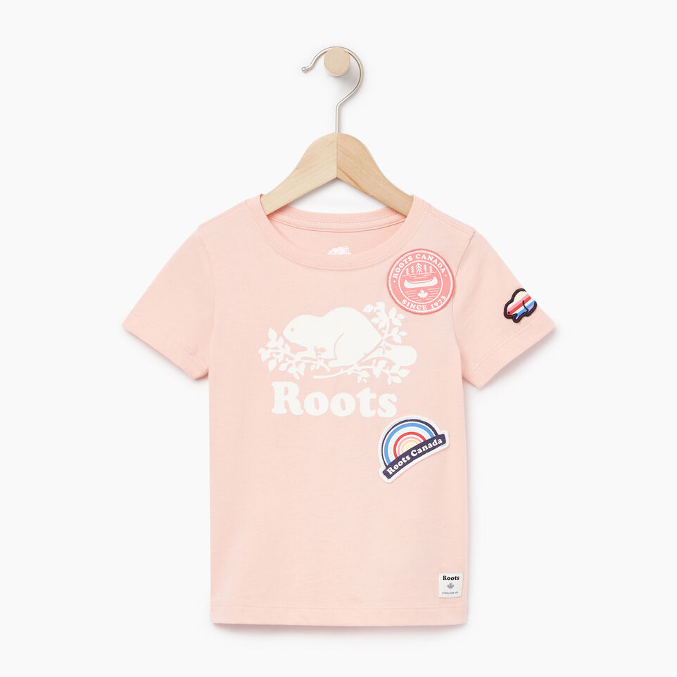 Roots-Kids Our Favourite New Arrivals-Toddler Patches T-shirt-Blossom Pink-A
