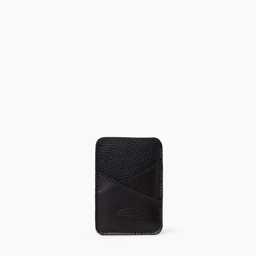 Roots-Leather Leather Accessories-Diagonal Card Holder Cervino-Black-A
