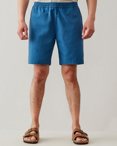Roots-Men Shorts-Camp Ripstop Pull On Short 8 In-Dusty Indigo-A