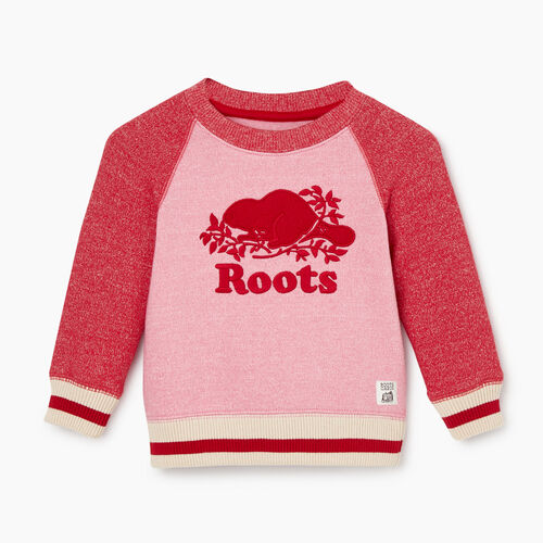 Roots-Sale Baby-Baby Roots Cabin Cozy Sweatshirt-Cashmere Rose Pepper-A