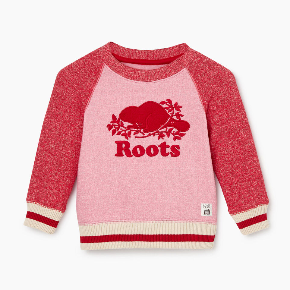 Roots-Sale Kids-Baby Roots Cabin Cozy Sweatshirt-Cashmere Rose Pepper-A