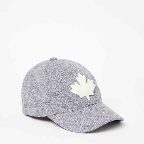 Roots-Clearance Kids-Toddler Canada Leaf Baseball Cap-Salt & Pepper-A