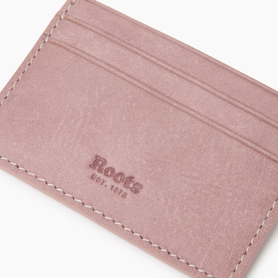 Roots-Leather New Arrivals-Card Holder Tribe-Woodrose-D