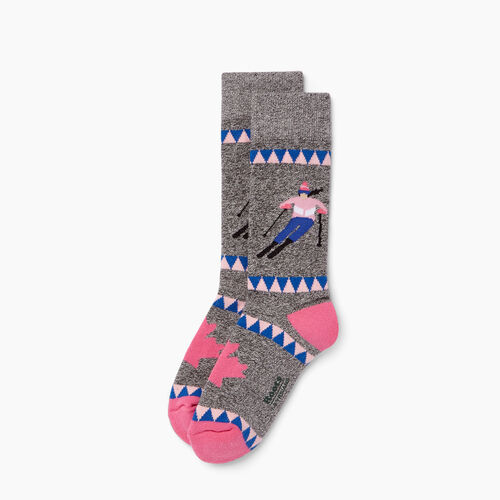 Roots-Kids Our Favourite New Arrivals-Kids Slopes Boot Sock-Pink-A