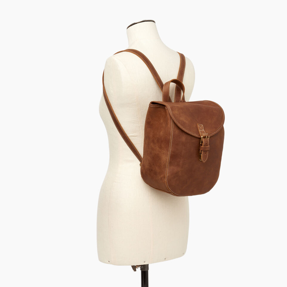 Roots-Leather New Arrivals-Little Nells Backpack-Natural-B