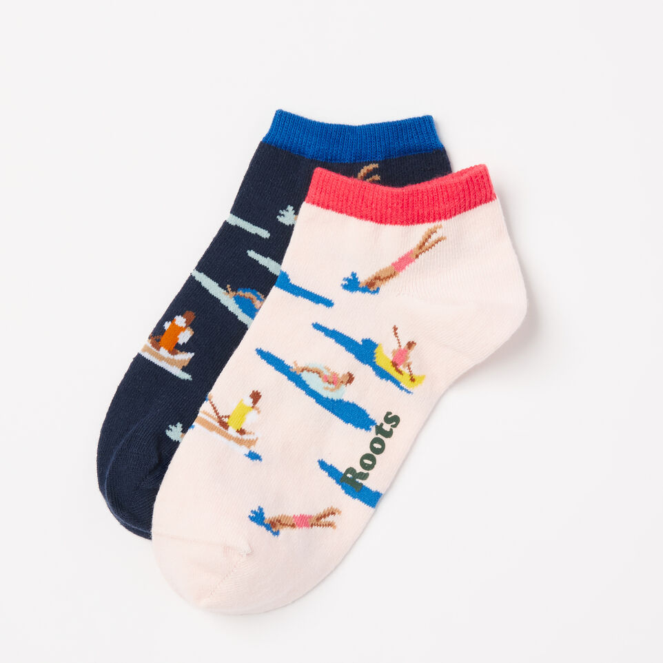 Roots-undefined-Womens Lake Life Ped Sock 2 Pack-undefined-A