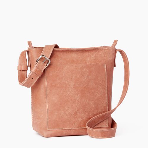 Roots-Leather  Handcrafted By Us Handbags-Rideau Crossbody-Canyon Rose-A