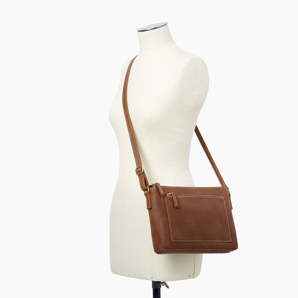 Roots-Leather  Handcrafted By Us Handbags-Robson Bag-Natural-B