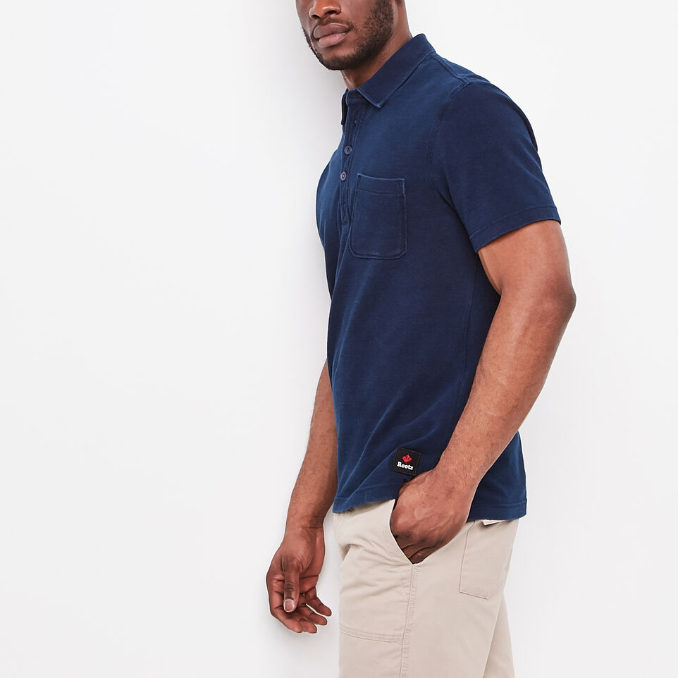 Roots-undefined-Ellesmere Indigo Pique Polo-undefined-A