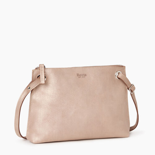 Roots-Leather  Handcrafted By Us Handbags-Edie Bag-Champagne-A