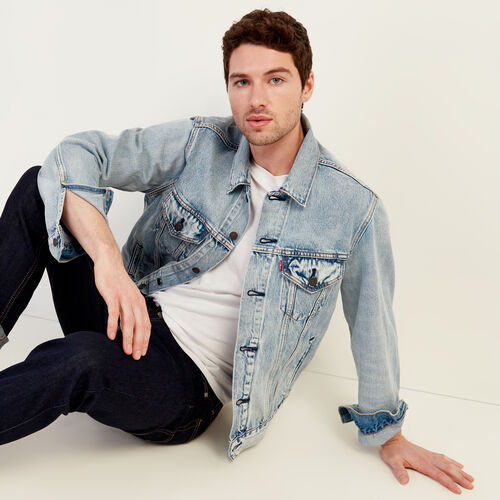 Roots-Men Our Favourite New Arrivals-Levi's Vintage Fit Trucker Jacket-Light Denim-A