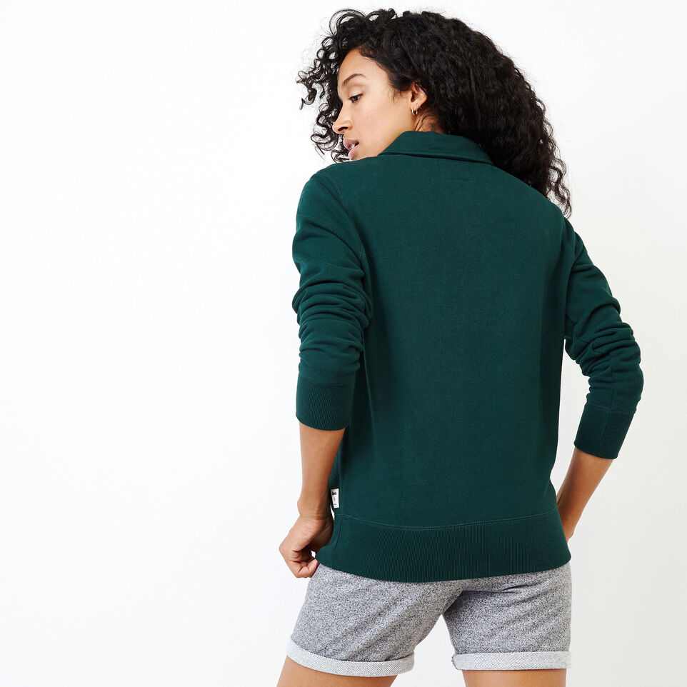 Roots-Women Our Favourite New Arrivals-Original Zip Polo-Varsity Green-D