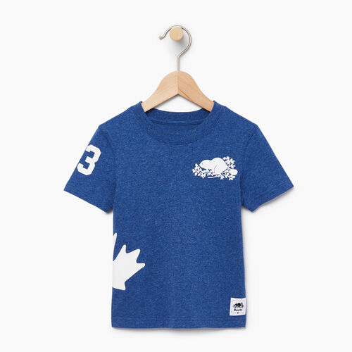 Roots-Kids Canada Collection-Toddler Bedford T-shirt-Active Blue Mix-A