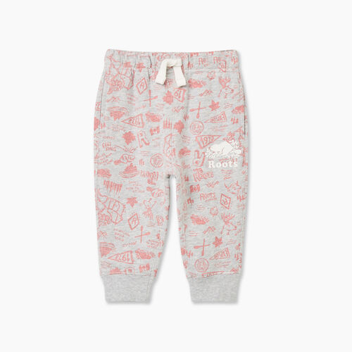Roots-Kids Baby-Baby Camp Slim Cuff Sweatpant-Snowy Ice Mix-A