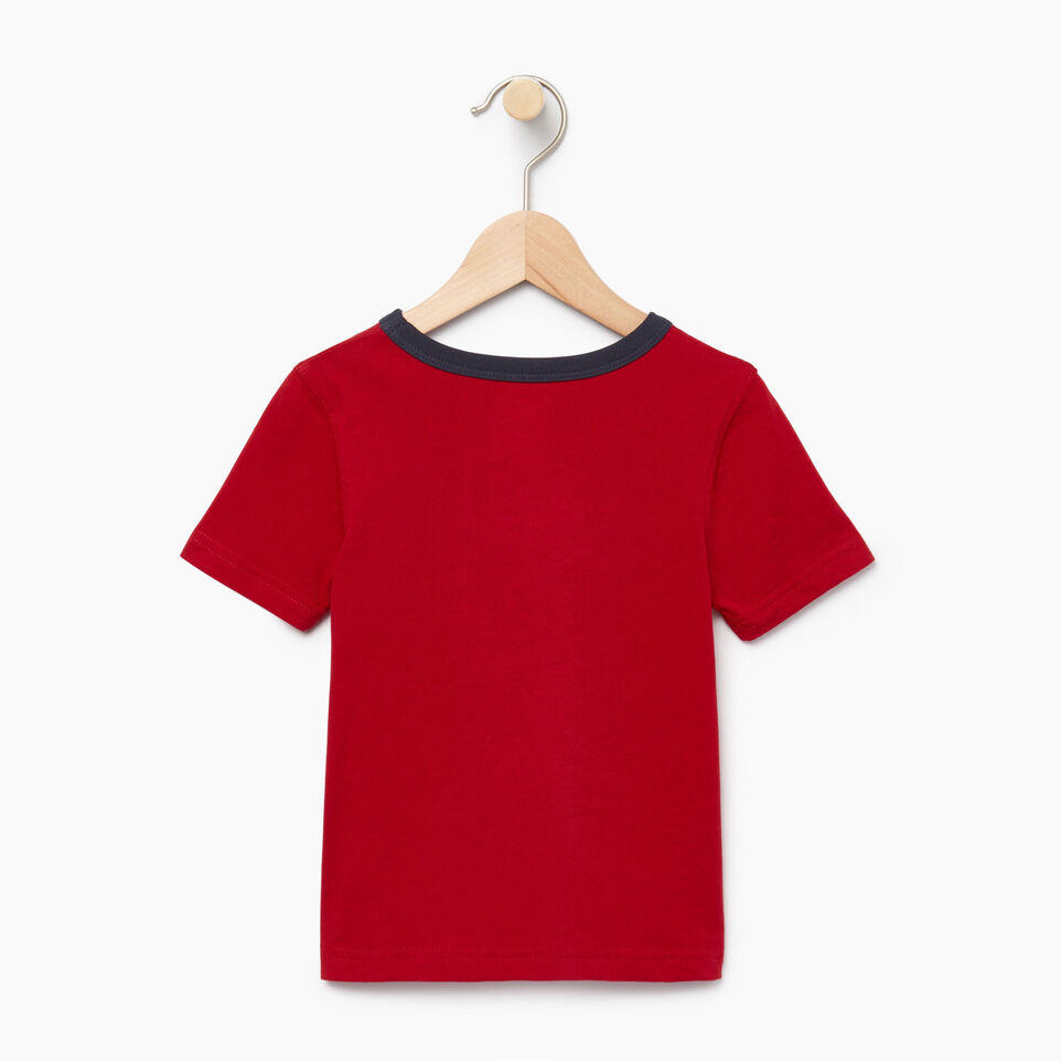 Roots-Kids Our Favourite New Arrivals-Toddler Cooper Canada Ringer T-shirt-Sage Red-B