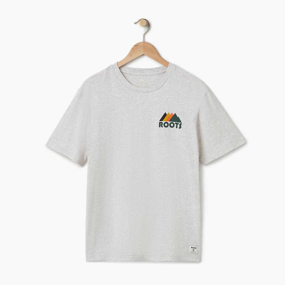 Roots-Men Our Favourite New Arrivals-Mens Mountains T-shirt-White Mix-A