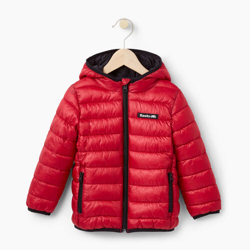 Roots-Kids Outerwear-Toddler Roots Puffer Jacket-Lodge Red-A