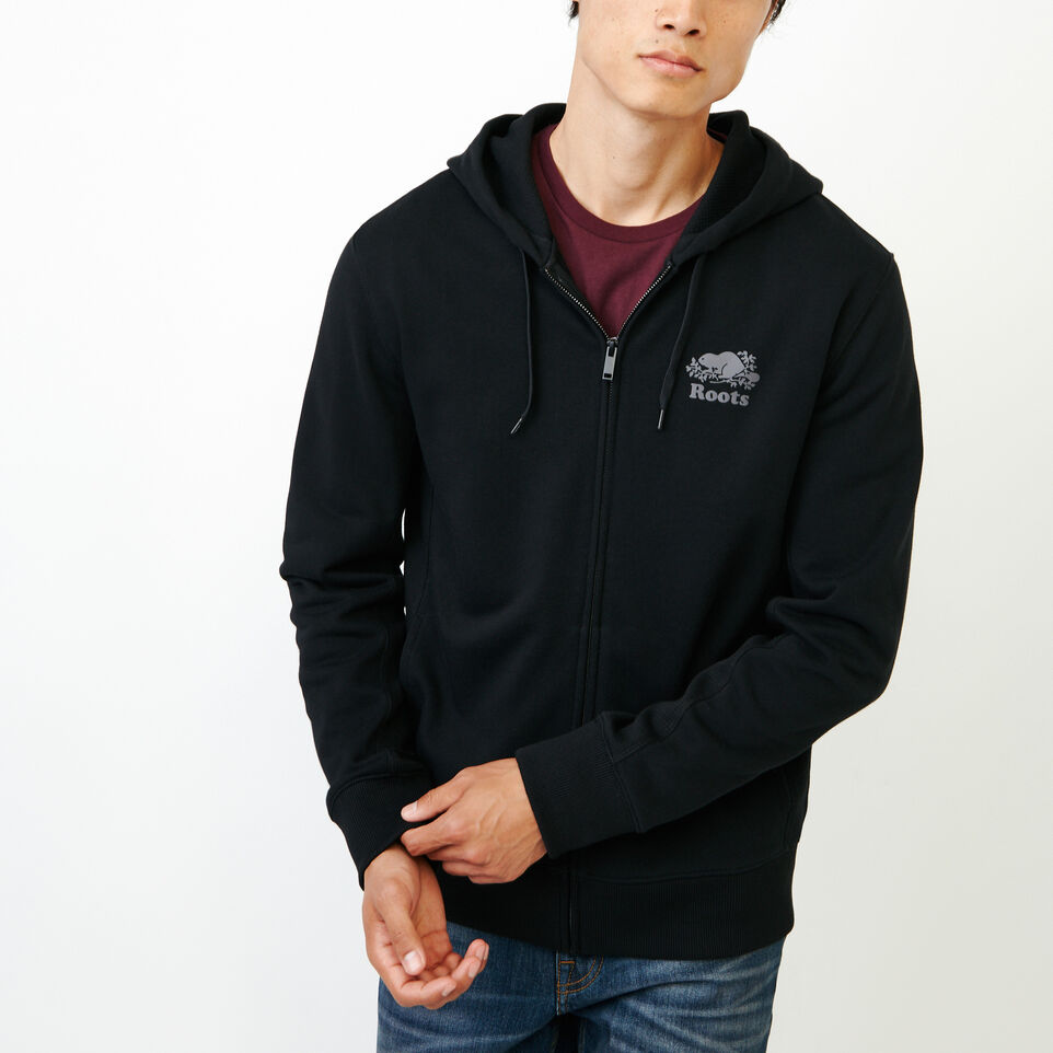 Roots-Men New Arrivals-Roots Breathe Zip Hoody-Black-A